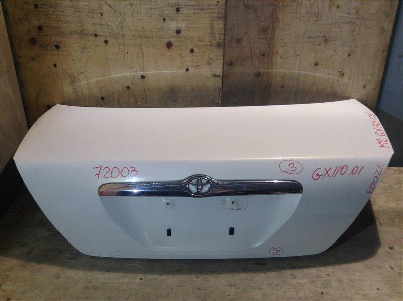 Крышка багажника Toyota Mark Ii GX110 2001 72003 (+21.05.20) Снят замок. 11С.[Т] (б/у)