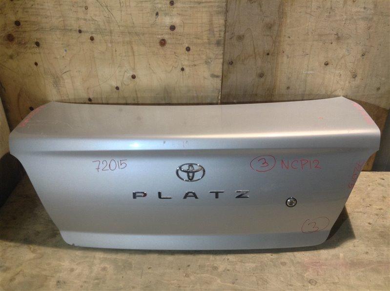 Крышка багажника Toyota Platz SCP11 2000 72015 (+21.05.20) Без обшивки. 11С.[Т] (б/у)