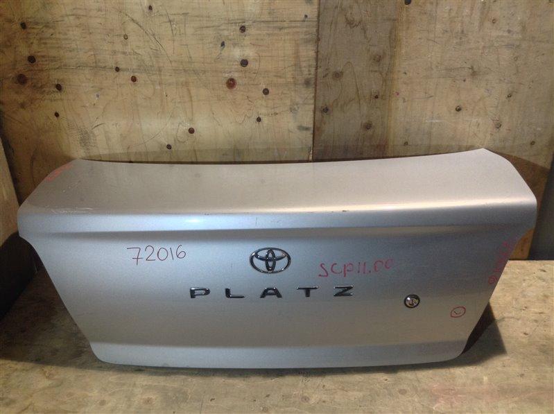 Крышка багажника Toyota Platz SCP11 2000 72016 (+21.05.20) Без обшивки. 11С.[Т] (б/у)