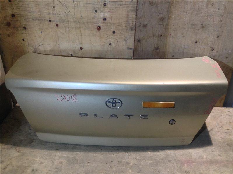 Крышка багажника Toyota Platz SCP11 72018 (+21.05.20) Без обшивки. 11С.[Т] (б/у)