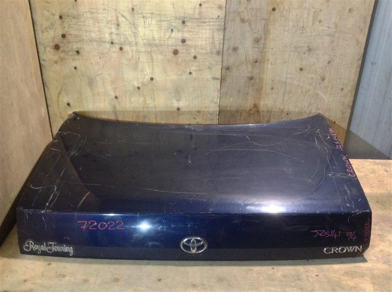 Крышка багажника Toyota Crown GS141 1994 72022 (+21.05.20) Без обшивки. Загнут угол (см. фото). 11С (б/у)