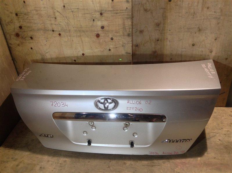 Крышка багажника Toyota Allion NZT240 2002 72034 Цена за крышку без замка, замок снят. 11С.[Т].  (б/у)