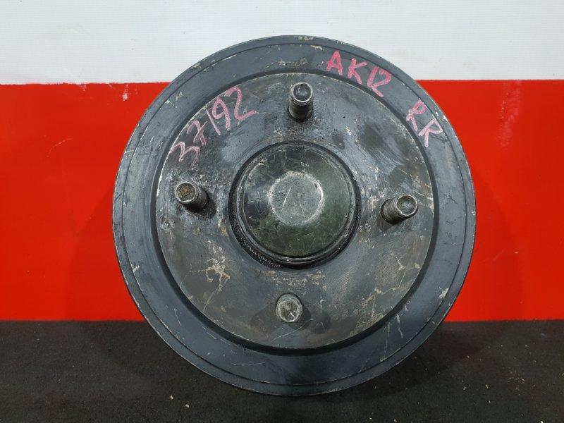 Ступица Nissan March AK12 CR12 2000 задняя правая Продаётся в сборе. Обрезан трос, датчик. (б/у)