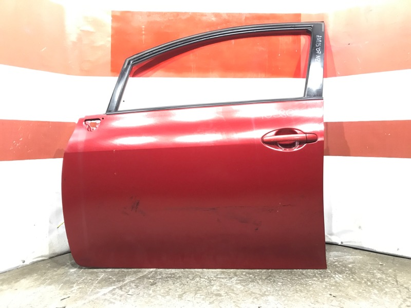 Дверь боковая Toyota Auris ZRE152 2007 передняя левая 10380 (+19.05.20) Красная. Цена указана за (б/у)