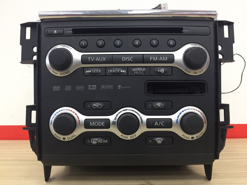Магнитола Nissan Teana J32 VQ25 2009 В сборе с блоком управления климат-контроля. (б/у)