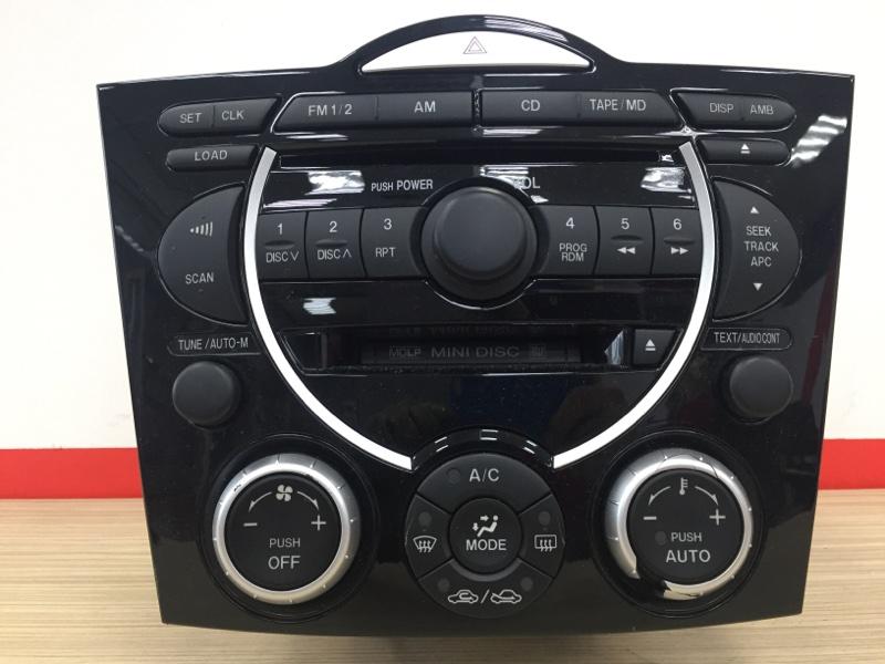 Блок управления климат-контролем Mazda Rx-8 SE3P 13B 2003 Дефект (см. фото). В сборе с (б/у)