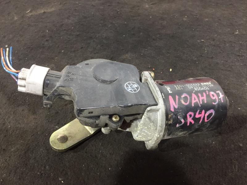 Мотор стеклоочистителя Toyota Lite Ace Noah SR40 3S 1997 передний 85110-28150, 849200-1023 (б/у)