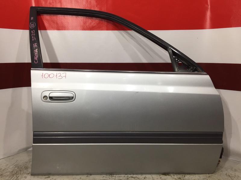 Дверь боковая Toyota Carina AT211 1997 передняя правая 100137 (+21.05.20) (б/у)