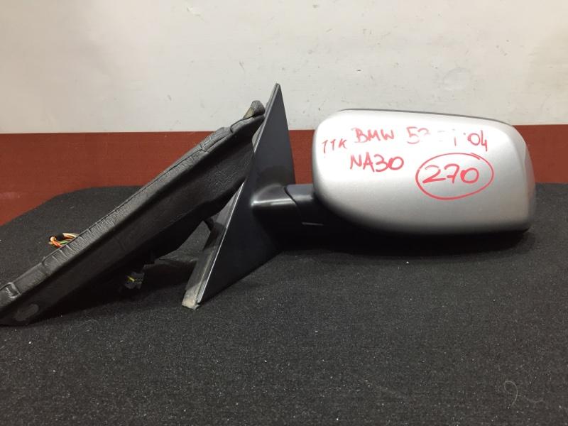 Зеркало заднего вида боковое Bmw 5-Series E60 M54B30 2004 левое 11 контактов, правый руль. (б/у)