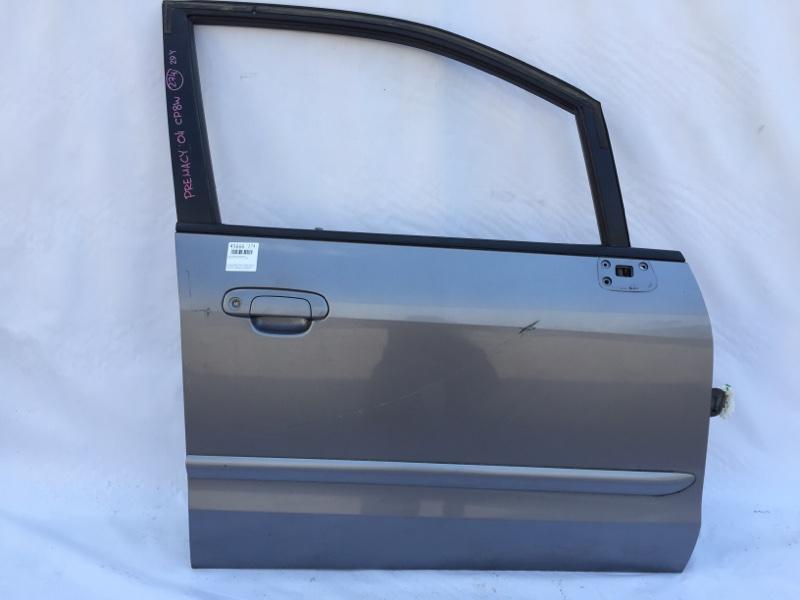 Дверь боковая Mazda Premacy CP8W FP 2004 передняя правая Снят замок, стекло. (б/у)