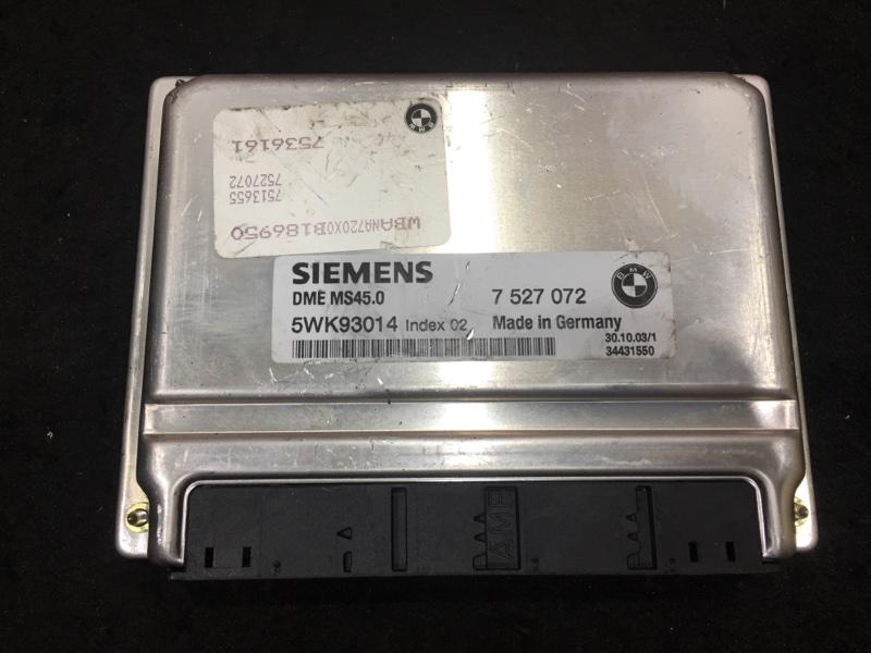 Блок управления двс Bmw 5-Series E60 M54B30 2004 7513655, 7527072, 7536161 48 ящик. (б/у)