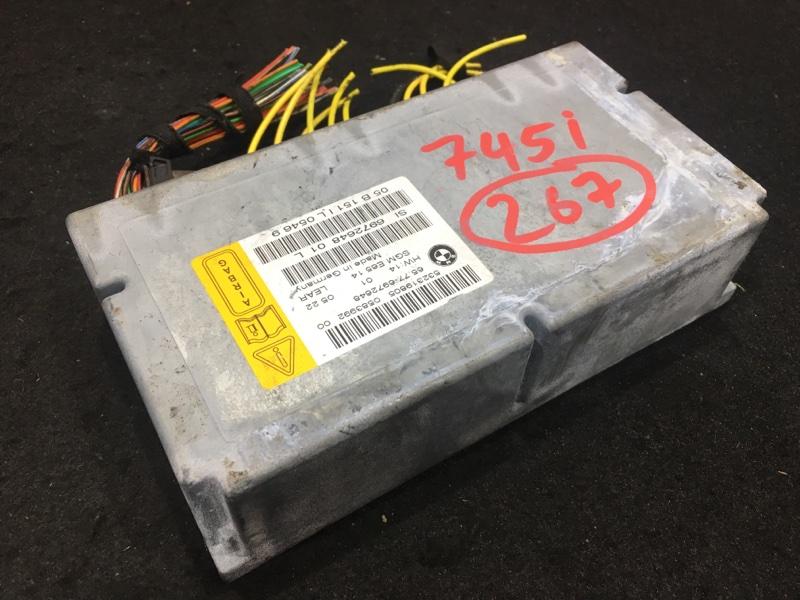 Блок управления airbag Bmw 7-Series E65 N62B44A 2004 Блок управления нпб со шлюзом 48 ящик. (б/у)