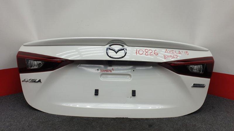 Крышка багажника Mazda Axela BM5FP P5 2015 10826 Есть дефект см. фото. Камера заднего вида. (б/у)