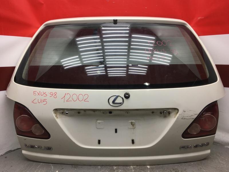 Дверь багажника Lexus Rx300 MCU10 12002 (+14.05.20) Есть вмятины, загнут уголок (см. фото). (б/у)