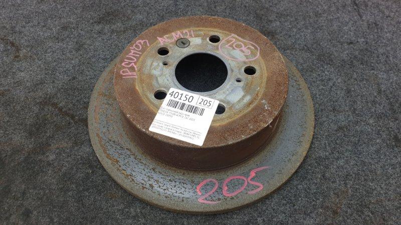 Диск тормозной Toyota Ipsum ACM21 2AZ 2003 задний правый (б/у)