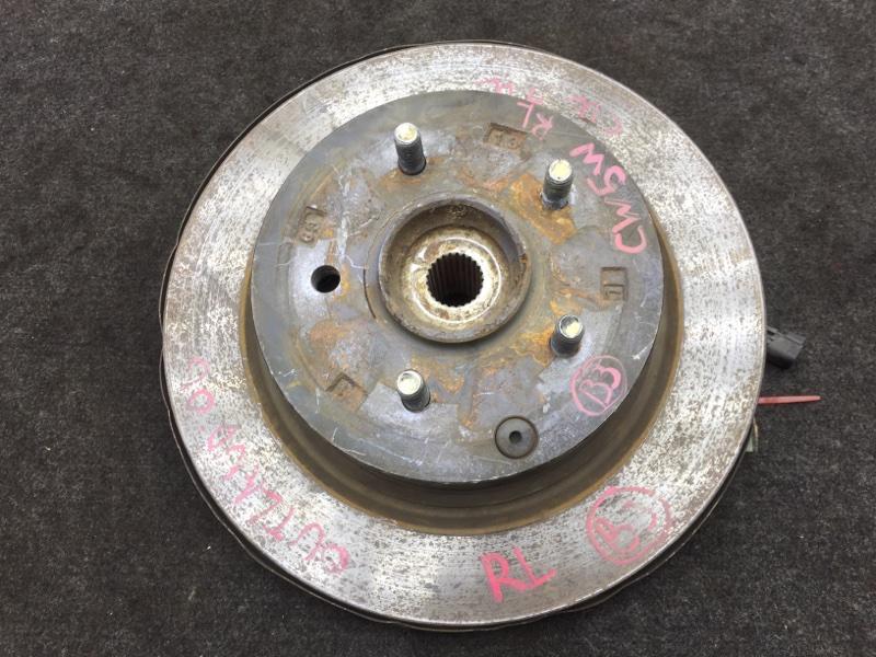 Диск тормозной Mitsubishi Outlander CW5W 4B12 2006 задний левый На ступице (б/у)