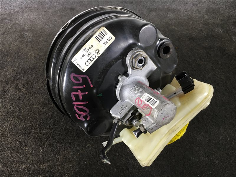 Вакуумный усилитель тормозов Audi A6 4F2 BDX 2008 501719 Правый руль. ГТЦ + вакуумный (б/у)