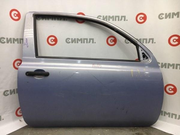 Дверь боковая Nissan March AK12 CR12 передняя правая Снят стеклоподъемник, замок, стекло. (б/у)