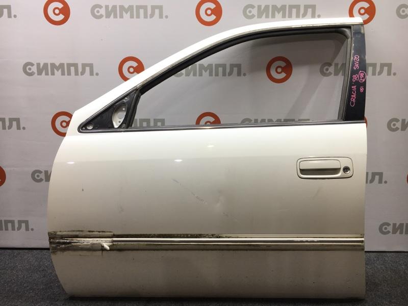 Стекло боковое Toyota Camry Gracia SXV20 5S 1998 переднее левое (б/у)