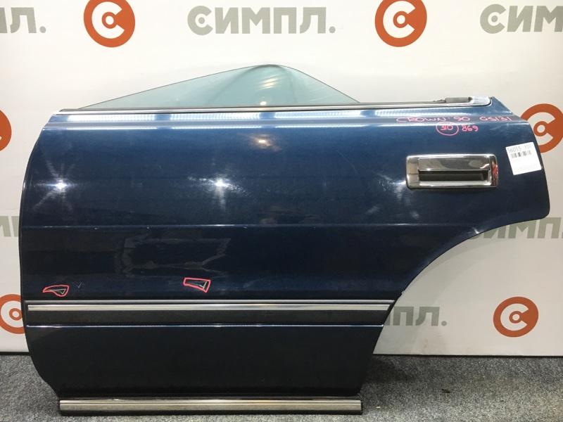 Дверь боковая Toyota Crown GS131 1G-GZE 1990 задняя левая Снят стеклоподъемный механизм, (б/у)