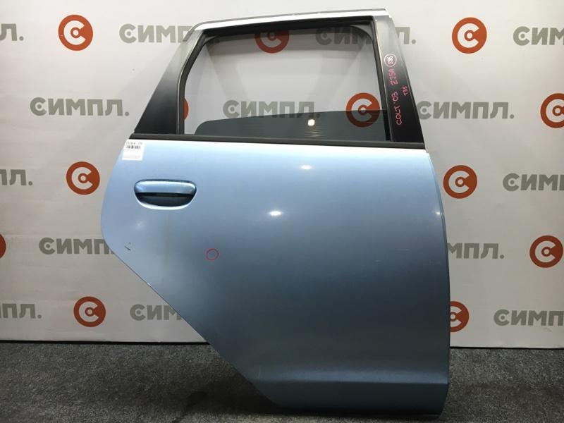Дверь боковая Mitsubishi Colt Z25A 4G19 2003 задняя правая Цвет T35. Цена за голую дверь. (б/у)