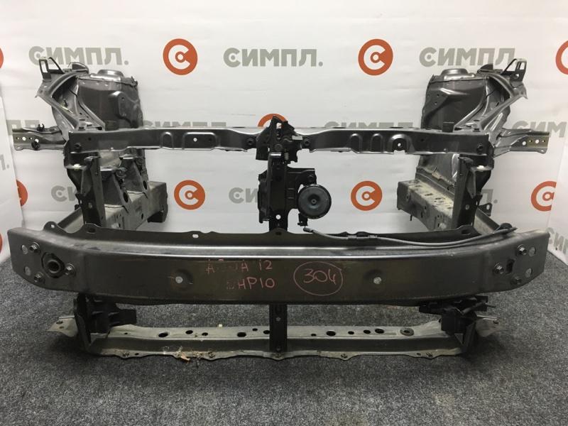 Жесткость бампера Toyota Aqua NHP10 1NZ-FXE 2012 передний Рамка радиатора продаётся отдельно. (б/у)