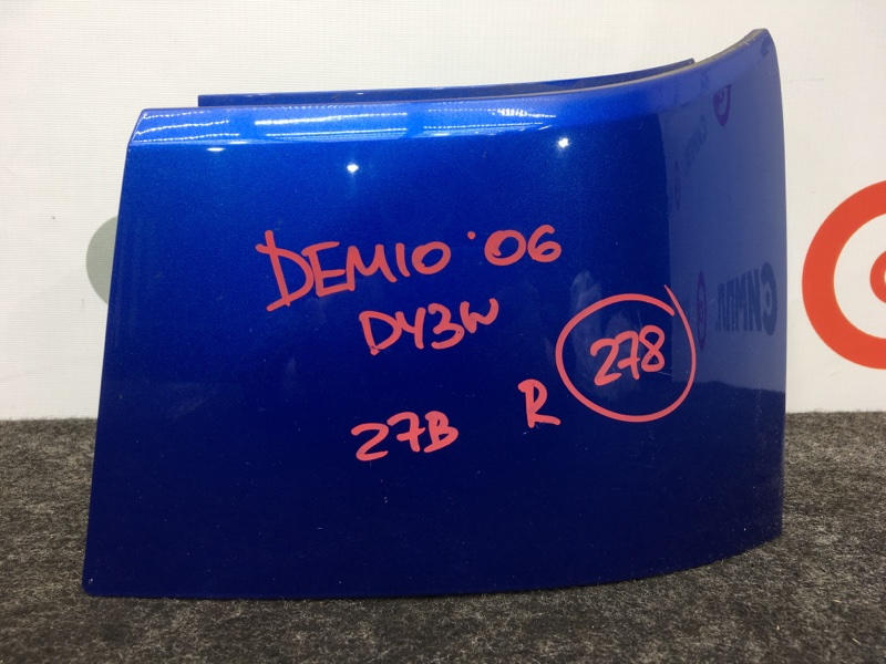 Планка под фонарь Mazda Demio DY3W ZJ 2006 задняя правая (б/у)