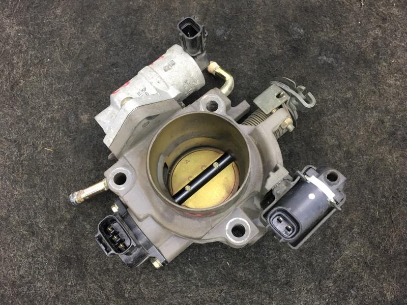 Заслонка дроссельная Mazda Axela BK5P ZY 2003 Механическая. Сломана трубка на датчике (б/у)