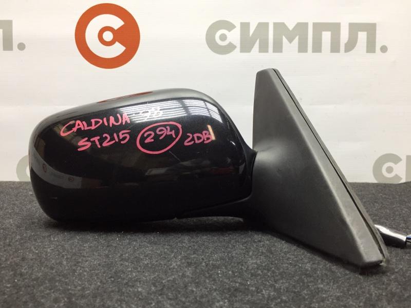 Зеркало заднего вида боковое Toyota Caldina ST215 3S 1998 правое 7 контактов (б/у)