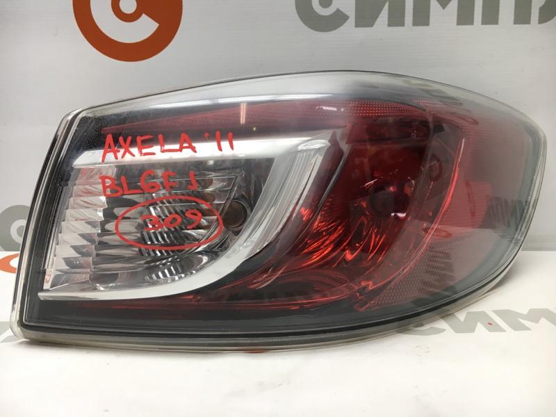 Задний фонарь Mazda Axela BL6FJ Z6 2011 задний правый P8524 Помутнение пластика (см. фото) (б/у)