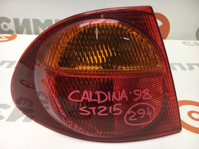Задний фонарь Toyota Caldina ST215 3S 1998 задний левый 21-36 Дорестайлинг. (б/у)