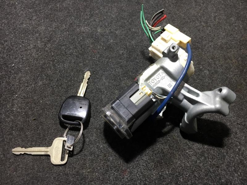 Замок зажигания Toyota Corolla Fielder ZZE123 2ZZ 2003 Дефект корпуса ключа (см. фото). Ключ без  (б/у)