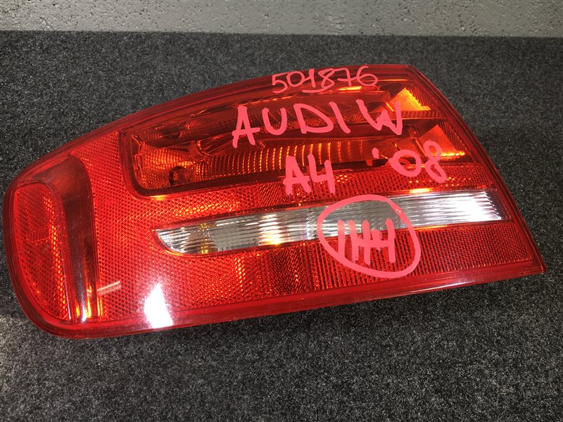 Задний фонарь Audi A4 B8 CDH 2008 задний левый 501876 (б/у)