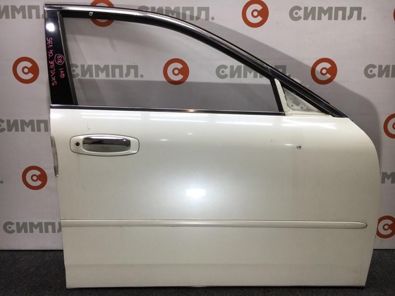 Дверь боковая Nissan Skyline V35 VQ25 2004 передняя правая Цена за голую дверь.Снят (б/у)