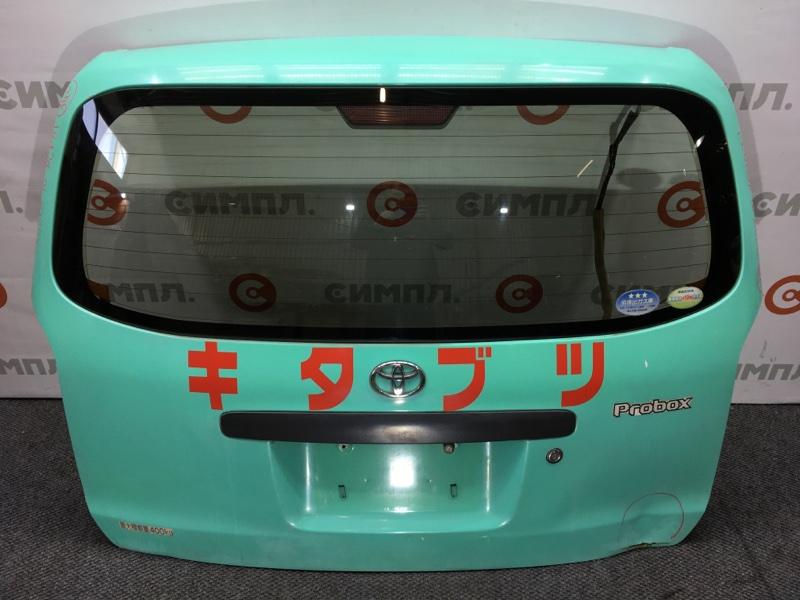 Дверь багажника Toyota Probox NCP51 1NZ 2010 Дефект: вмятины (см. фото) (б/у)