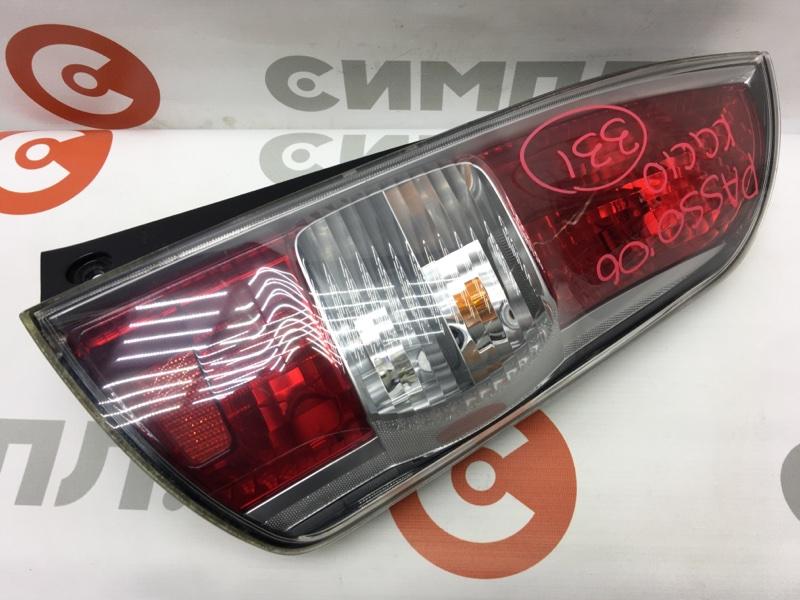 Задний фонарь Toyota Passo KGC10 1KR 2006 задний правый 220-51762 (б/у)