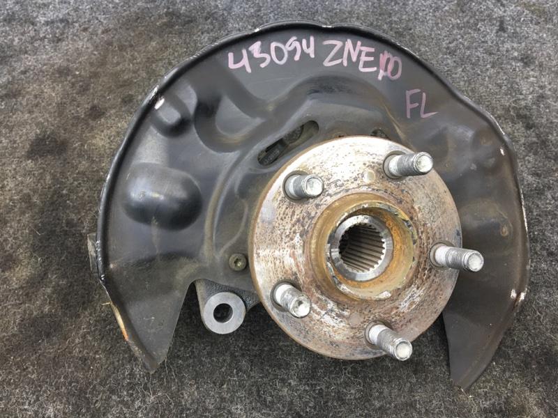 Ступица Toyota Wish ZNE10 1ZZ 2003 передняя левая Голая, снят суппорт, тормозной диск. Обрезан  (б/у)
