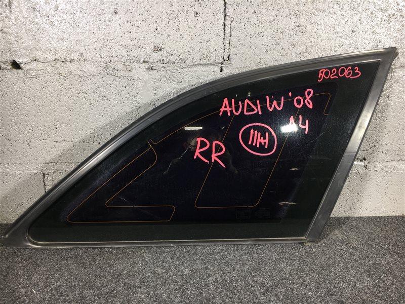 Стекло собачника Audi A4 B8 CDH 2008 заднее правое 502063 Универсал. (б/у)