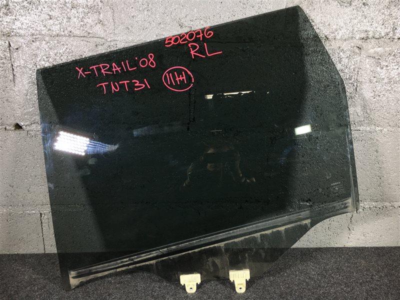 Стекло боковое Nissan X-Trail TNT31 QR25DE 2008 заднее левое 502076 (б/у)