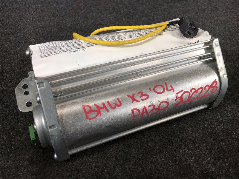 Подушка безопасности Bmw X3 E83 M54 2004 левая 502228 Пассажирская. С зарядом. Без крышки. (б/у)