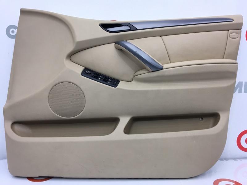 Обшивка двери Bmw X5 E53 N62 2004 передняя правая (б/у)