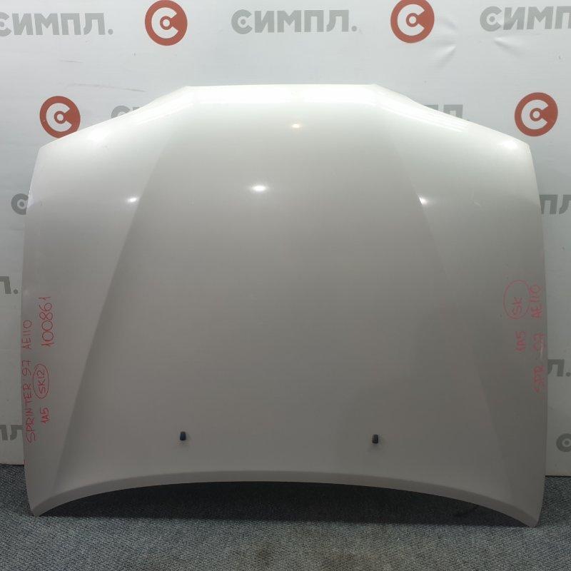 Капот Toyota Sprinter AE110 1997 100861 Код краски 1A5. (б/у)