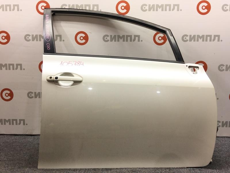 Дверь боковая Toyota Auris NZE151 1NZ 2011 передняя правая 105784 (б/у)