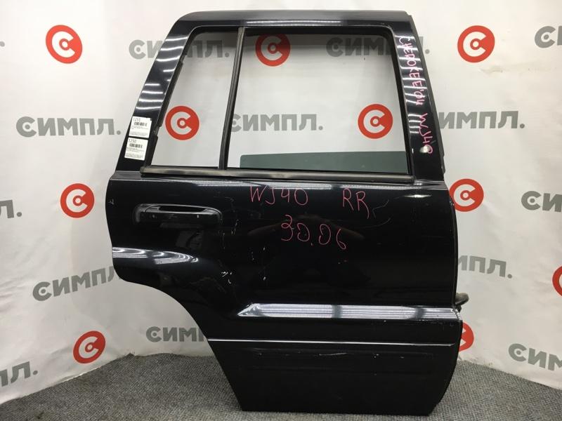Дверь боковая Jeep Grand Cherokee WJ40 306MX18 2004 задняя правая Черная. Снят стеклоподъемник, (б/у)