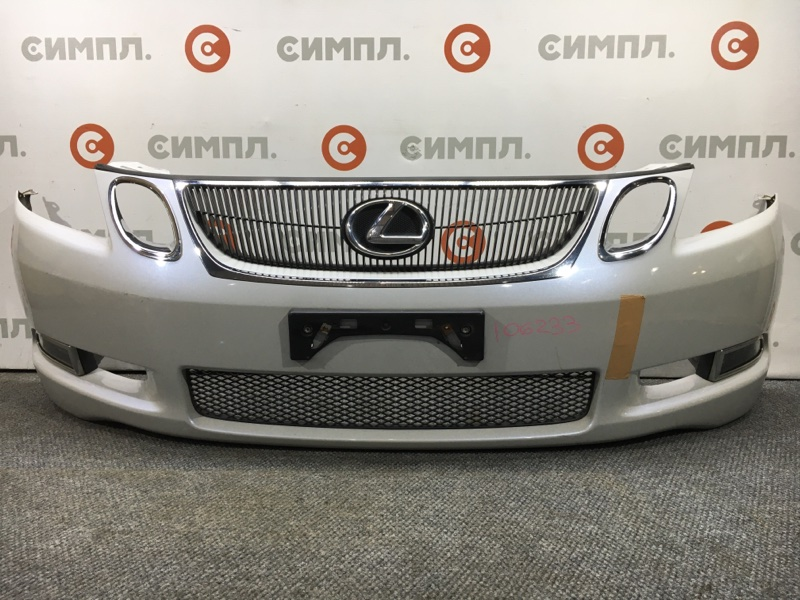 Бампер Lexus Gs350 GRS191 2GR 2005 передний 106233 (+14.05.20) Туманки. Решетка. Оправы под фары хром.  (б/у)