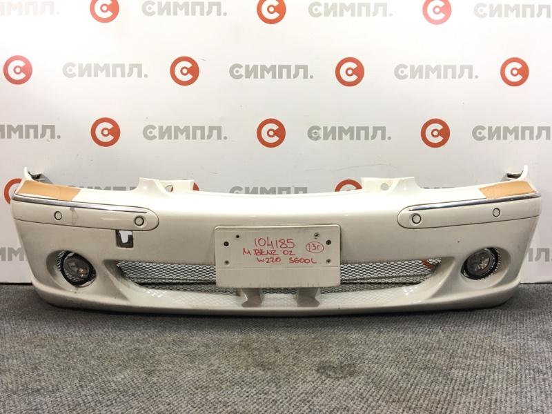 Бампер Mercedes-Benz S-Class W220 2002 передний 104185 (+14.05.20) Туманки, сонары, под омыватели. (б/у)