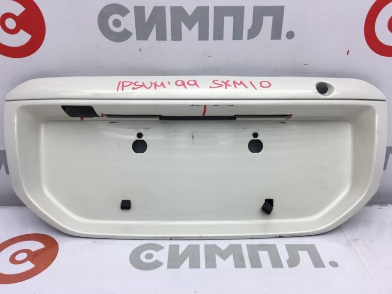 Рамка для крепления номера Toyota Ipsum SXM10 3S 1998 задняя Дефект креплений, трещины (см.  (б/у)