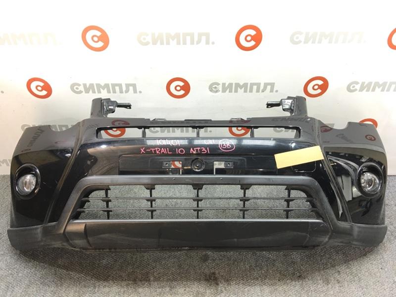 Бампер Nissan X-Trail NT31 MR20DE 2011 передний 101401 Туманки. (б/у)