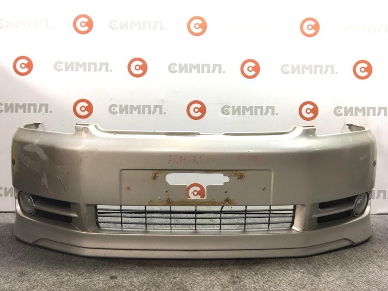 Бампер Toyota Ipsum ACM21 2AZ 2003 передний 40014 Туманки. (б/у)