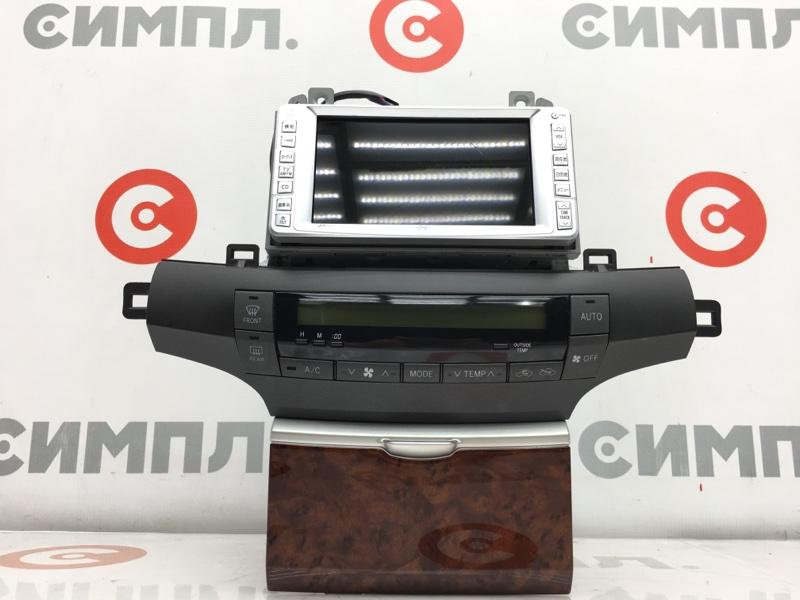 Блок управления климат-контролем Toyota Premio ZZT240 1ZZ 2002 В сборе с магнитолой. (б/у)